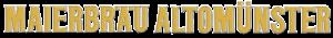 Download Maierbräu Alotomünster Schriftzug gold