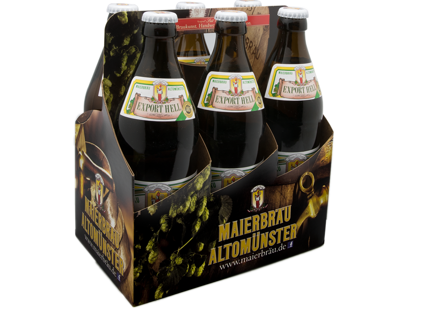 Biere, Export Helles, Sixpack, Maierbräu Altomünster