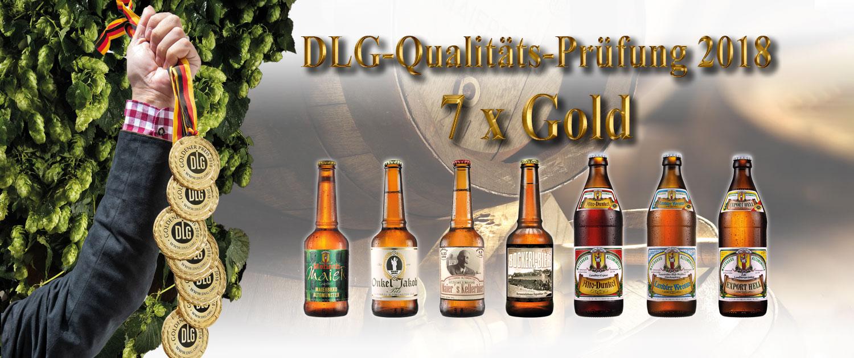 Maierbräu Biere DLG-Qualitäts-Prüfung. 7 mal ausgezeichnet