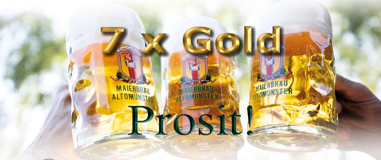Maierbräu Braurei Altomünster 7 Goldmedaillien